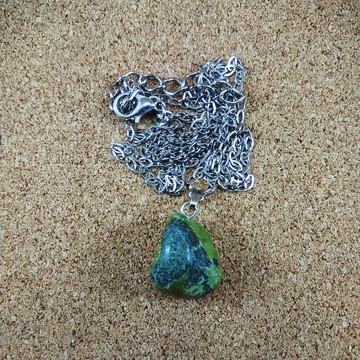 Colar Pedra Serpentina Natural