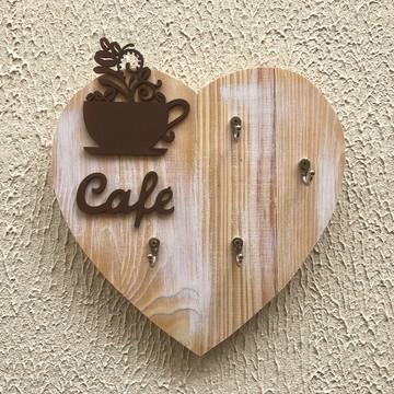 Porta Xícaras Pallet Coração