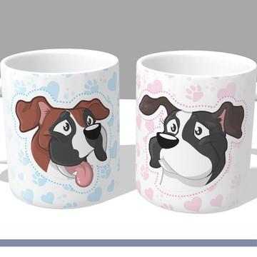 (PROMOÇÃO) 2 Canecas Personalizadas - Gatos / Cachorros