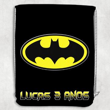 Mochilinha aniversario festa batman