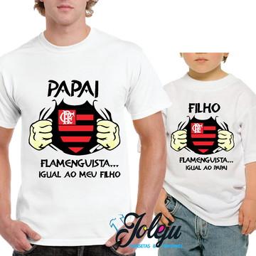 Camiseta Pai e Filho Time do Coração