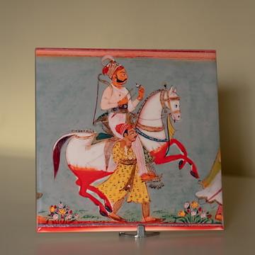 Azulejo decorativo com tema indiano