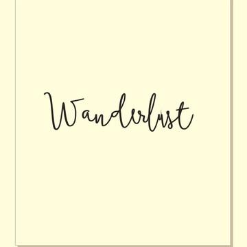 Wanderlust (90cm) - Palavra de parede (arame)