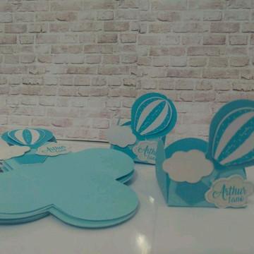 forminhas personalizadas Balão azul