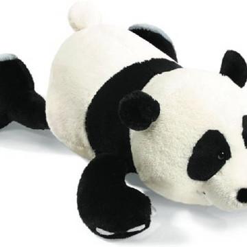 Urso Panda de Pelucia Naninha 30cm AntiAlergico Bebê Neném