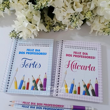 Caderno Personalizado Dia dos Professores - Neutro