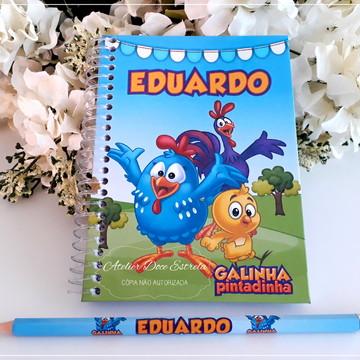 Caderno Personalizado Galinha Pintadinha