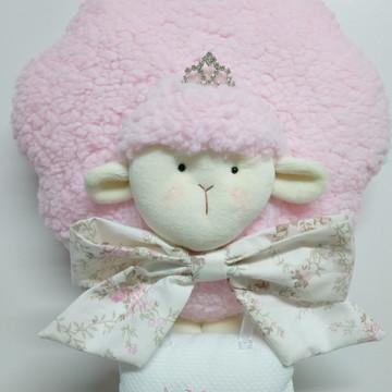 Enfeite Porta Maternidade Ovelha Rosa