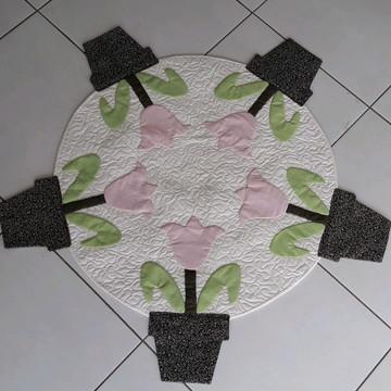 Toalha mesa redonda Tulipas