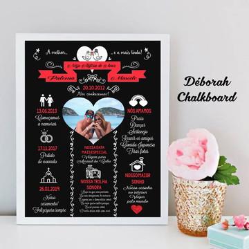 Chalkboard Casamento com foto A3