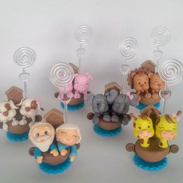 Lembrancinha Arca de Noé biscuit