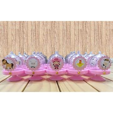 Mini cúpula Fazendinha Rosa