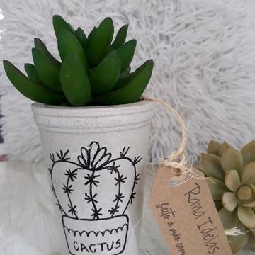 Vaso de concreto cactus