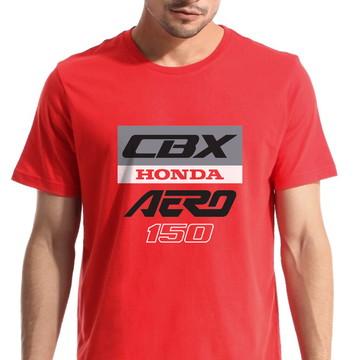 Camiseta Motociclista Moto Honda CBX 150 Aero 1988 Vermelha