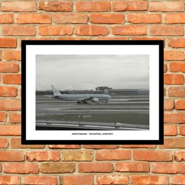 1 Quadro C/ Vidro - Amsterdam Schiphol Airport / Aeroporto