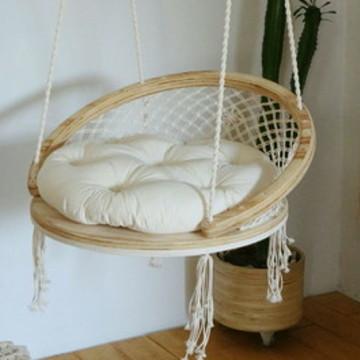 Cadeira de Balanço Suspensa de Macramê: Modelo Iurupé