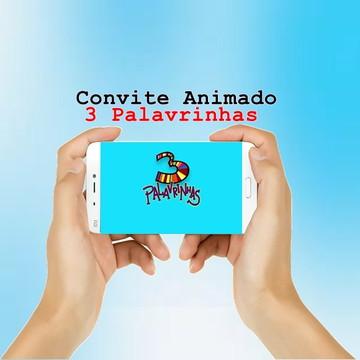 Convite Animado 3 Palavrinhas