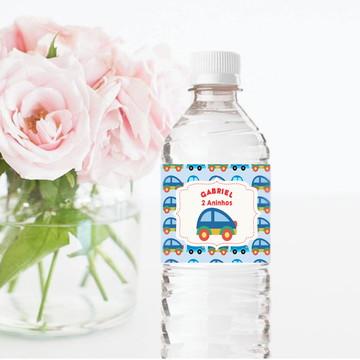 Rótulo para garrafa de água Carrinho