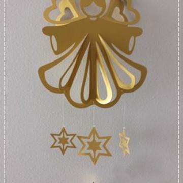 Arquivo Silhouette Anjo Natal Móbile Nascimento