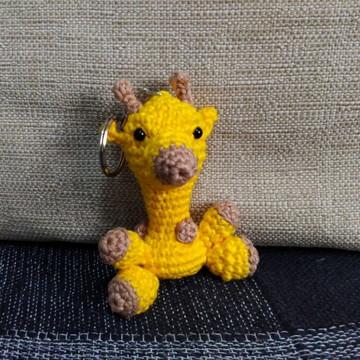 Girafa Chaveiro (amigurumi)