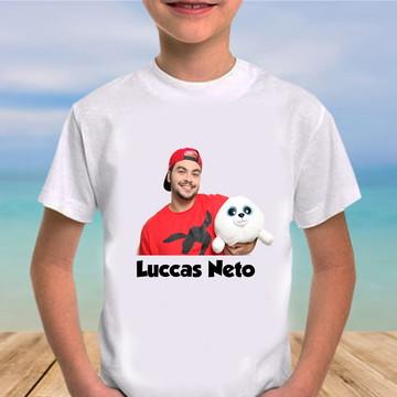 Camiseta lucas neto com a foca