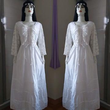 50847d9f6 vestido longo tecido laise lese renda off white
