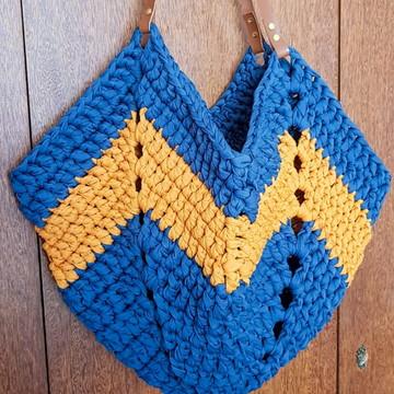 Bolsa Estrela - Azul e Mostarda