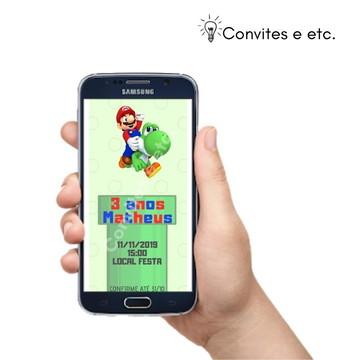 Convite Digital Tema Super Mario Para Festa Infantil