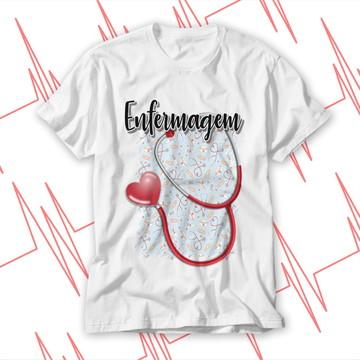 Camiseta blusa baby look enfermagem
