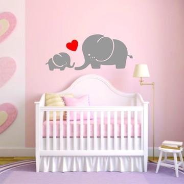 Adesivo Decoração Infantil Elefante Berço Berçário