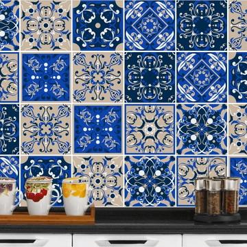 Adesivo de Azulejo 15x15 - 24un (Lavável de Verdade) Arábia