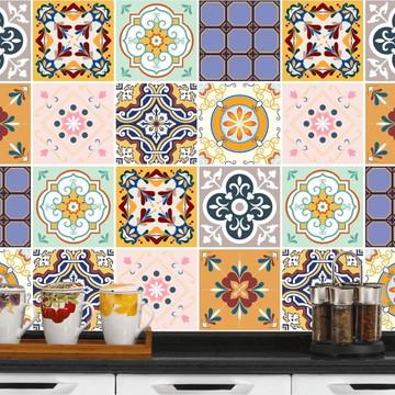 Adesivo de Azulejo 15x15 24un-Lavável de Verdade- Azerbaijão
