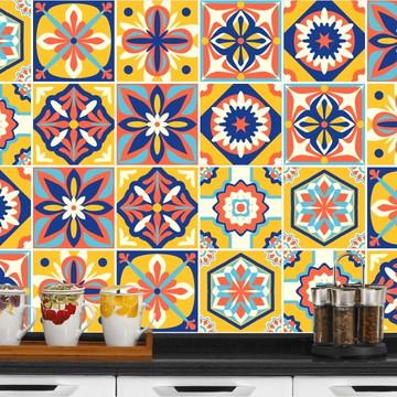 Adesivo de Azulejo 15x15 - 24un (Lavável de Verdade) Congo