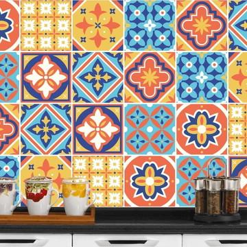 Adesivo de Azulejo 15x15 - 24un (Lavável de Verdade) Gabão