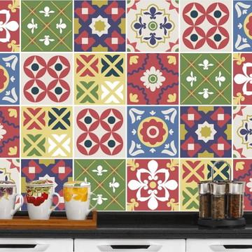 Adesivo Azulejo 15x15 - 24un (Lavável de Verdade) Guatemala