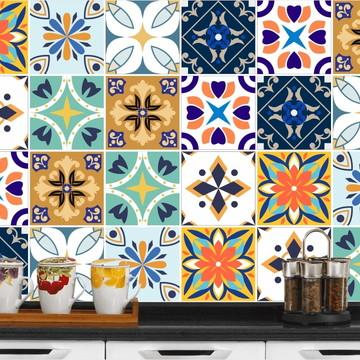 Adesivo de Azulejo 15x15 - 24un (Lavável de Verdade) Líbano