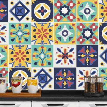 Adesivo de Azulejo 15x15 - 24un (Lavável de Verdade) Sudão