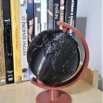Globo terrestre feito com impressão 3D