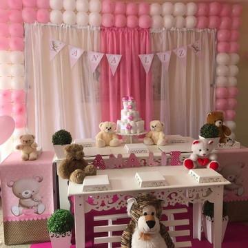 Aluguel decoração Chá de bebe Ursinhas