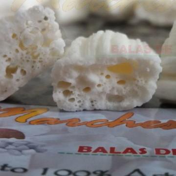 Balas de Coco Artesanal Sabor Coco Branco Tipo Tradicional