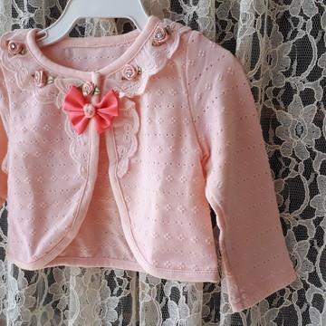e76f1895e0 Casaquinho cardigan rosa 3M