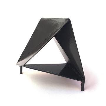 Peça Decoração Metal Geométrica Artesanal Abstrata