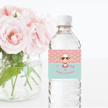 Rótulo para garrafa de água Confeitaria