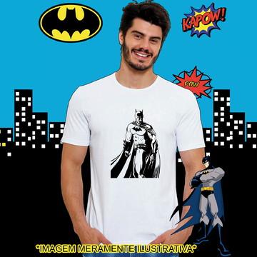 Camiseta Batman Contorno com Capa