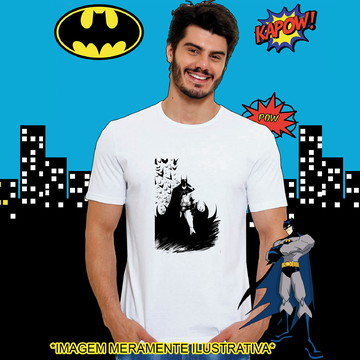 Camiseta Batman Morcegos desenho