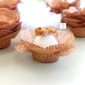 50 FORMINHAS p doce, casamento Rose Gold F011