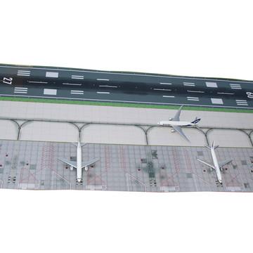 Miniatura de Aeroporto com Aviões Aeronaves Boeing Airbus