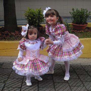 FANTASIA CAIPIRINHA ROSA ANTIGO (Tam. 4 a 6 anos)
