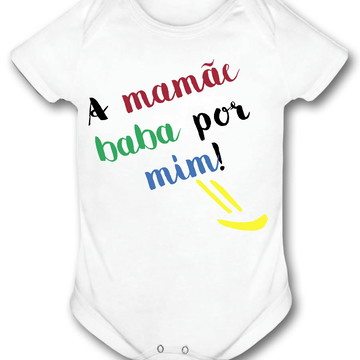 Body infantil personalizado bebê a mamãe baba por mim