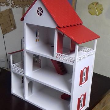 Casa De Boneca mais mini móveis Em Mdf pintada